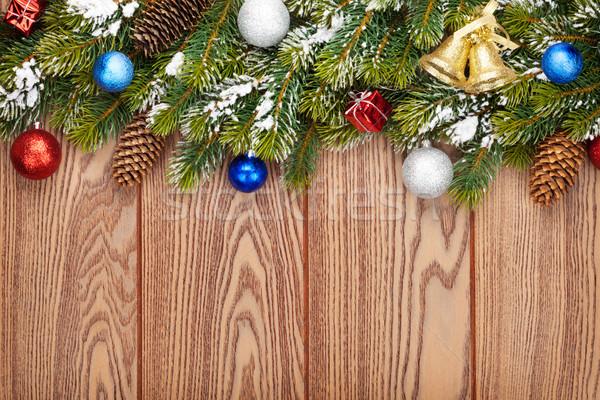 Noël bois neige espace de copie Photo stock © karandaev