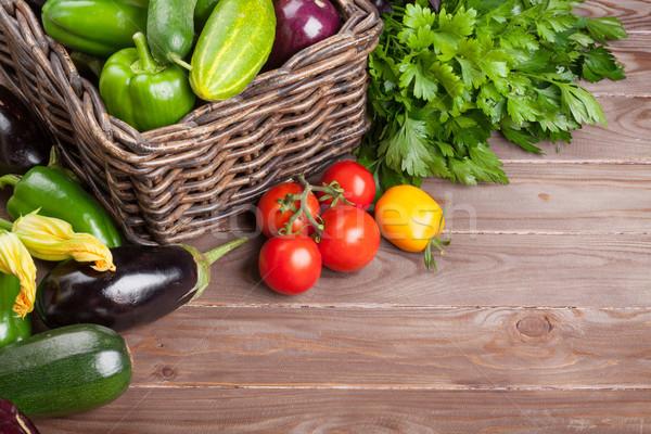 Fresh farmers garden vegetables and herbs Stock photo © karandaev