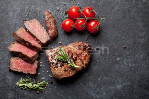 Grilled beef steak Stock photo © karandaev