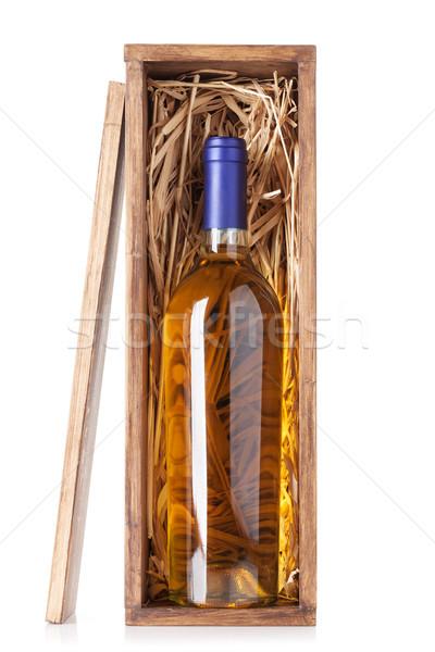 White wine bottle Stock photo © karandaev