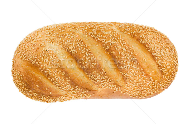 White bread with sesame. View from above. Stock photo © karandaev