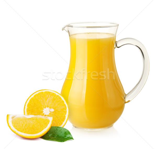 Narancslé narancsok izolált fehér étel gyümölcs Stock fotó © karandaev