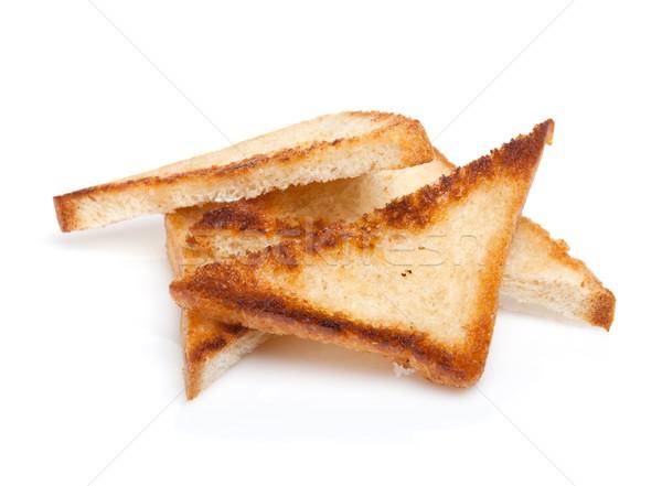Tostato pane fette isolato bianco texture Foto d'archivio © karandaev