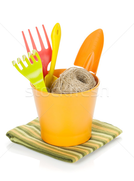 Garden tools in flower pot Stock photo © karandaev
