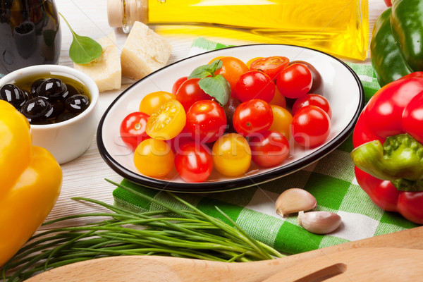 Italian food cooking ingredients Stock photo © karandaev