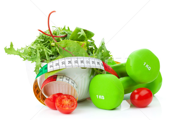 Centymetrem zdrowa żywność fitness zdrowia odizolowany biały Zdjęcia stock © karandaev