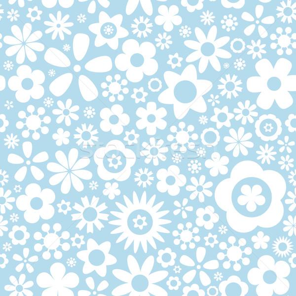 Bloem Blauw bloemen papier textuur Stockfoto © karandaev
