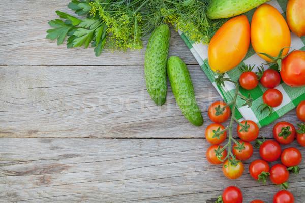 ストックフォト: 新鮮な · 野菜 · ハーブ · 庭園 · 表