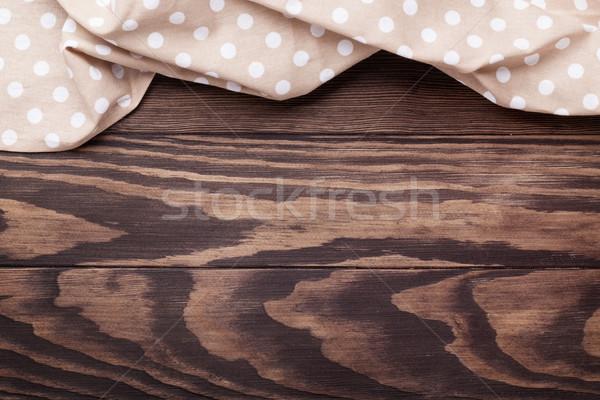 Keukentafel handdoek top exemplaar ruimte hout Stockfoto © karandaev