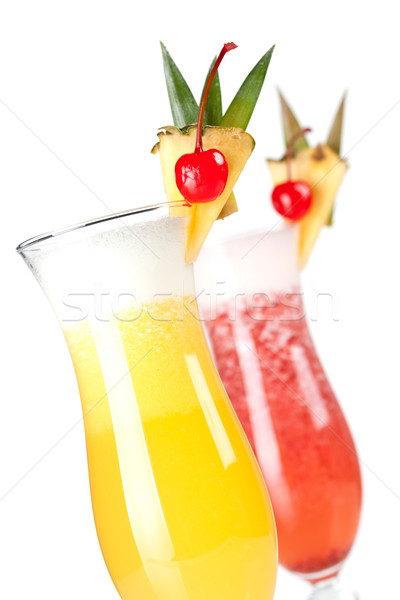 Cocktail collection: Strawberry and Classic Pina Colada Stock photo © karandaev