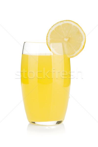 Lemon juice glass with lemon slice Stock photo © karandaev