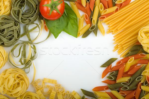 ストックフォト: イタリア語 · パスタ · テクスチャ · 光 · 葉