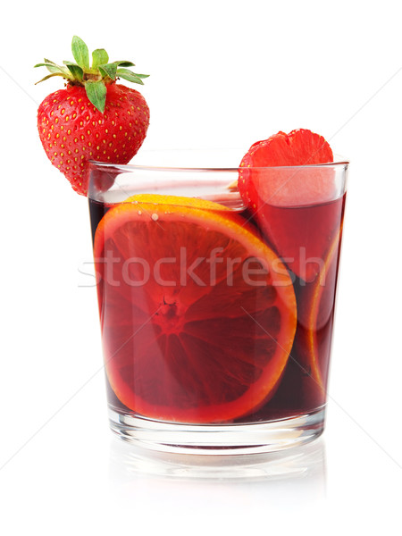 Refreshing fruit sangria Stock photo © karandaev