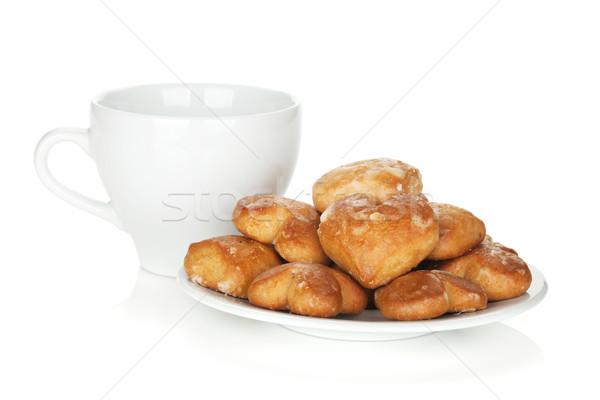 различный Cookies чаши изолированный белый Сток-фото © karandaev