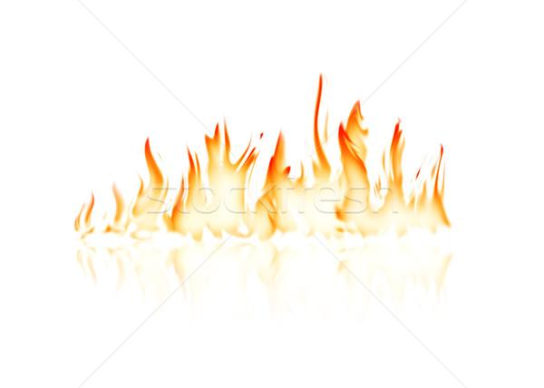 Ardor fuego llama reflexión blanco luz Foto stock © karandaev