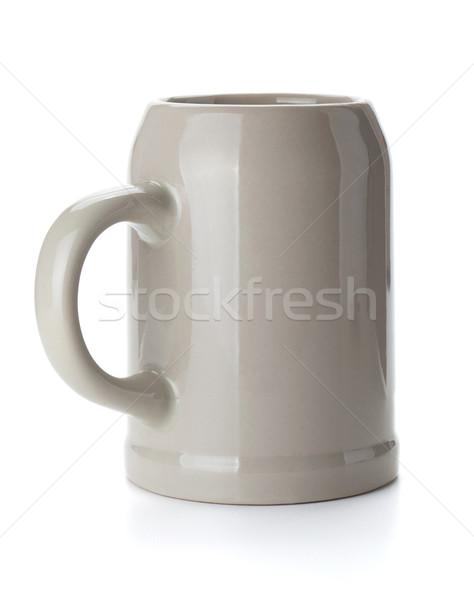 Bière tasse isolé blanche boire Photo stock © karandaev