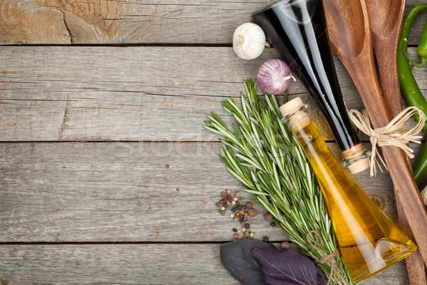 Herbs, spices and seasoning Stock photo © karandaev