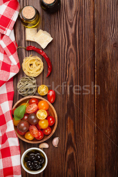 のイタリア料理 料理 材料 パスタ 野菜 スパイス ストックフォト © karandaev