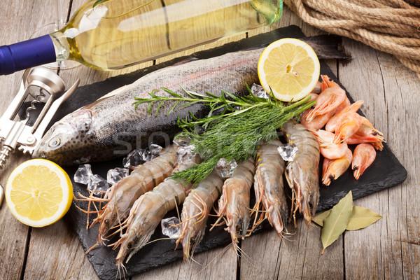 свежие сырой морем продовольствие специи Сток-фото © karandaev
