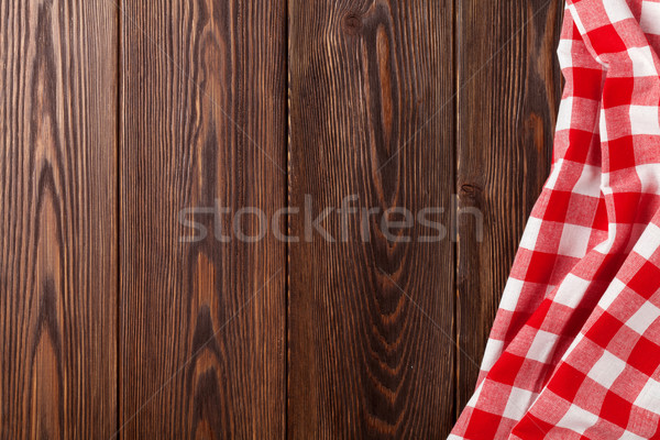 Kitchen table with red towel Stock photo © karandaev