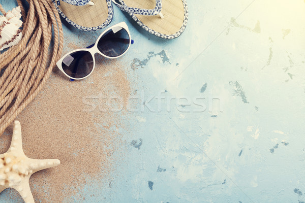 Beach accessories Stock photo © karandaev