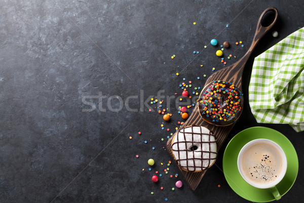 Kahve taş tablo üst görmek Stok fotoğraf © karandaev