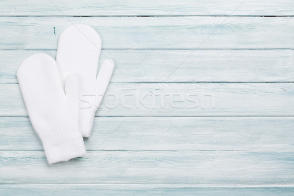 White mittens Stock photo © karandaev
