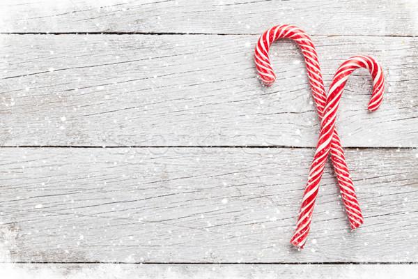 Christmas candy canes Stock photo © karandaev