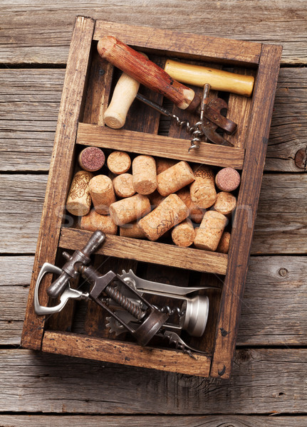 Wine accessories, corkscrew and corks Stock photo © karandaev