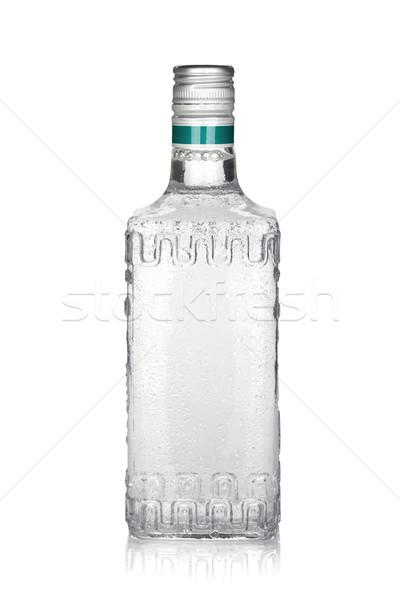 üveg ezüst tequila izolált fehér étel Stock fotó © karandaev