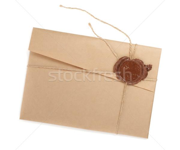Vintage envelope with stamp Stock photo © karandaev