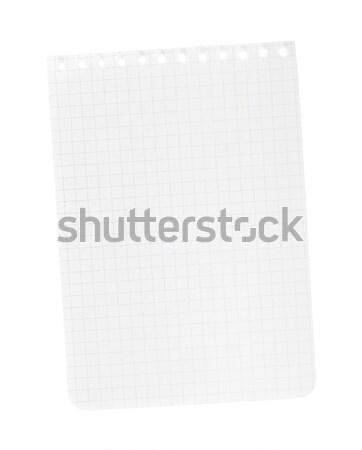 Levélpapír izolált fehér üzlet iroda textúra Stock fotó © karandaev