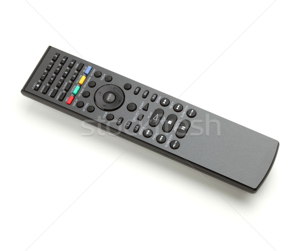 Controle remoto isolado branco televisão tecnologia microfone Foto stock © karandaev