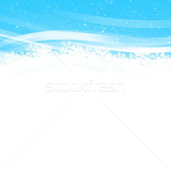 Soyut Noel kış tatil kar taneleri kar Stok fotoğraf © karandaev