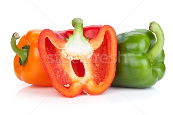 Stok fotoğraf: Renkli · çan · yalıtılmış · beyaz · gıda