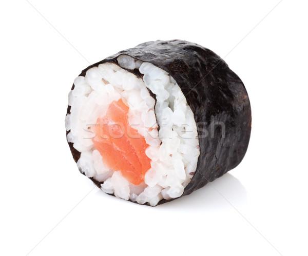 Sushi maki salmão isolado branco comida Foto stock © karandaev