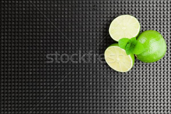 Wapno mięty mojito koktajl składniki górę Zdjęcia stock © karandaev