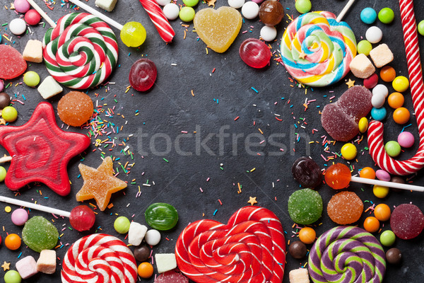 Colorful sweets. Lollipops and candies Stock photo © karandaev