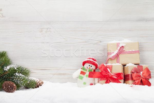 Natale pupazzo di neve giocattolo ramo Foto d'archivio © karandaev