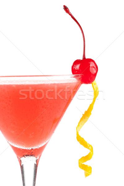 Alcohol cocktail with orange juice and grenadine Stock photo © karandaev