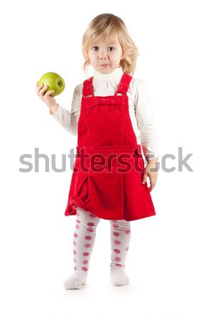 Baby girl with apple Stock photo © karandaev