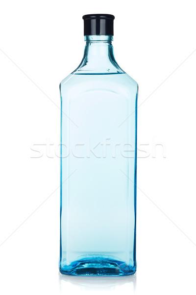 Stockfoto: Glas · gin · fles · geïsoleerd · witte · partij
