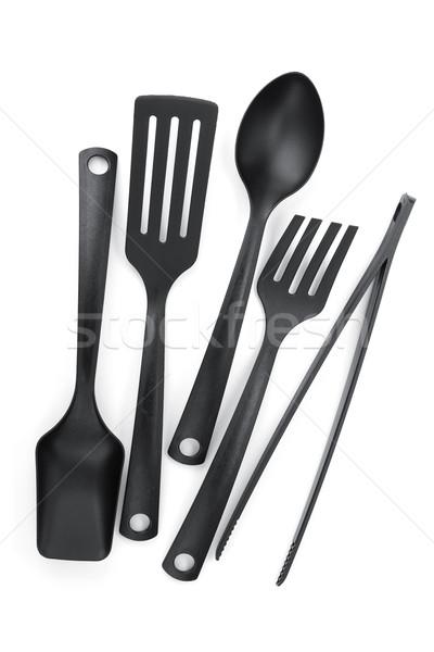 Plastic kitchen utensils Stock photo © karandaev