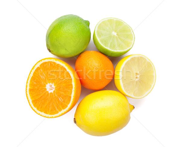 柑橘類 果物 オレンジ レモン 孤立した 白 ストックフォト © karandaev