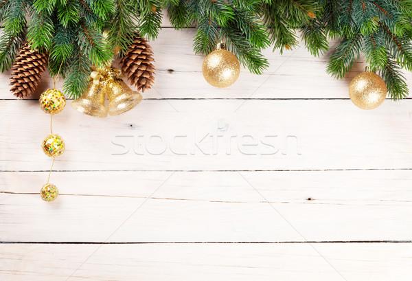 Natale pino legno copia spazio abstract Foto d'archivio © karandaev