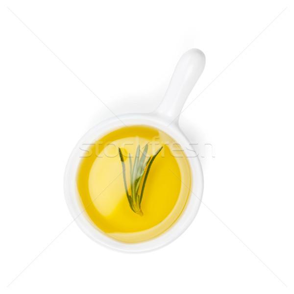 Aceite de oliva romero aislado blanco alimentos salud Foto stock © karandaev