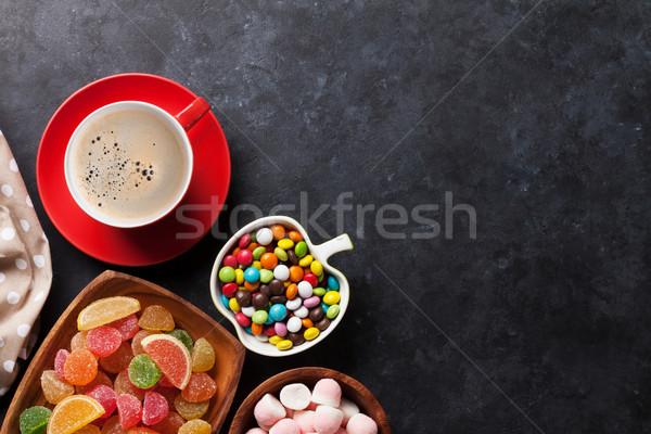 Caffè colorato gelatina pietra top Foto d'archivio © karandaev