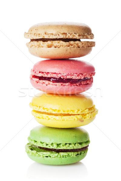 красочный Sweet macarons изолированный белый Сток-фото © karandaev