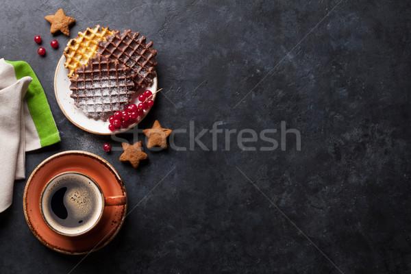 Café topo ver cópia espaço comida Foto stock © karandaev