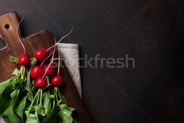 Tuin radijs vers top Stockfoto © karandaev